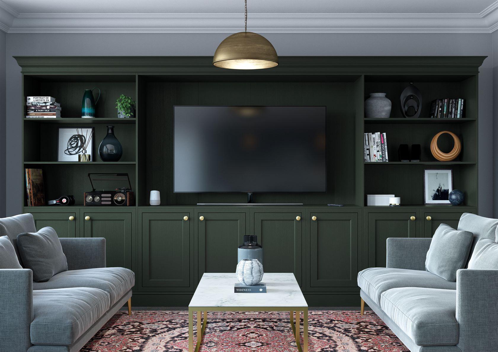 Belgravia Forest Green TV Storage